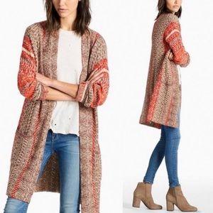 Lucky Brand Boho Knit Long Cardigan Duster
